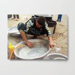 iraqi man work on street Metal Print