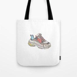 Balenciaga Triple S Sneaker Pattern Illustration Tote Bag
