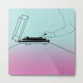 Vinyl on the Record Player Metal Print