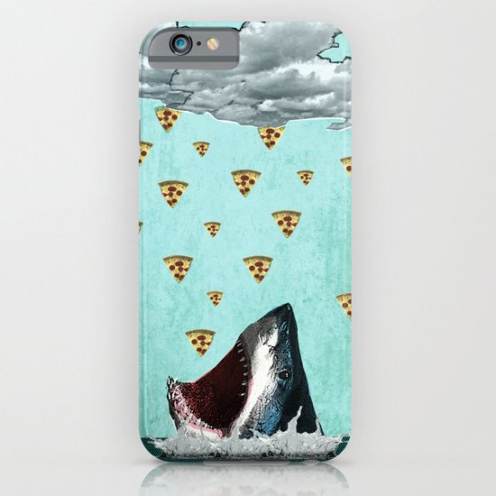 Pizza Shark Print iPhone & iPod Case