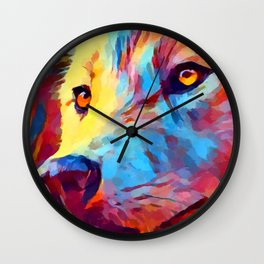 Wolf Portrait 3 Wall Clock