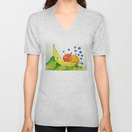 Bubbly Mixed Fruit Unisex V-Neck