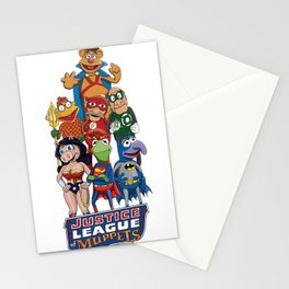 Justice League of Muppets Stationery Cards