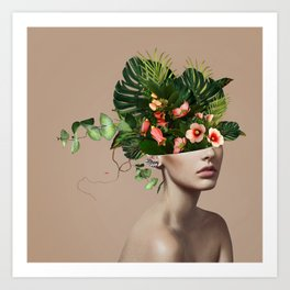 Lady Flowers llll Art Print