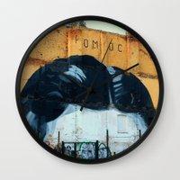 kafka Wall Clocks featuring Kafka´s head by dora-isa