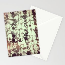 Paper cranes take flight Stationery Cards