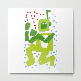green robot Metal Print
