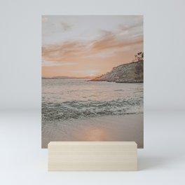 summer beach sunset Mini Art Print