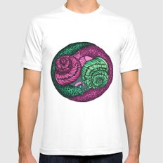 circle of snails Mens Fitted Tee White MEDIUM
