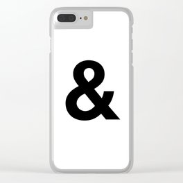 Ampersand Black and White Helvetica Typography Design Poster Home Decor Wall Art Scandinavian Decor Clear iPhone Case