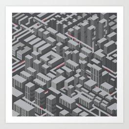Brutalist Utopia Art Print