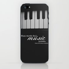 Music Speaks iPhone & iPod Skin