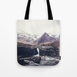 Stormy Fairy Pools Tote Bag
