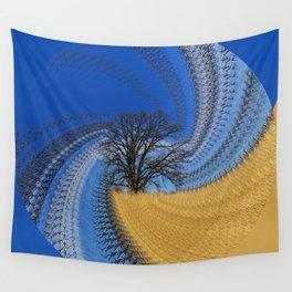 Prairie oak swirl Wall Tapestry