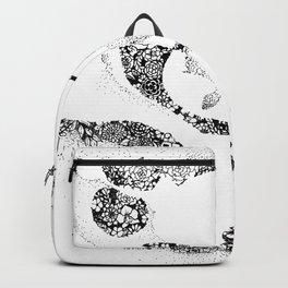 Anatomy Series: Vertebrae Flowers Backpack