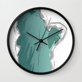 The power of liberty Wall Clock