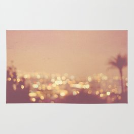 Summer Nights. Los Angeles at night photograph. Rug