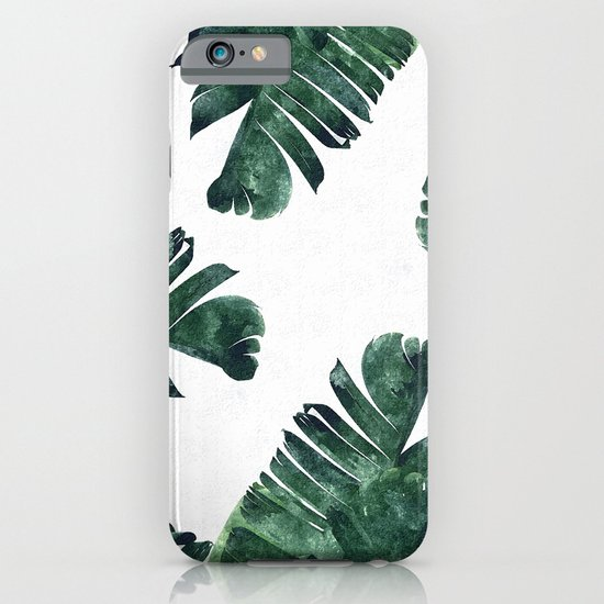 Banana Leaf Watercolor Pattern #society6 iPhone & iPod Case