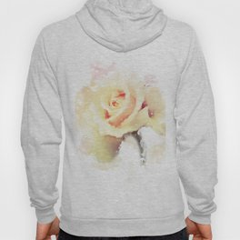 Watercolor Yellow Rose Hoody