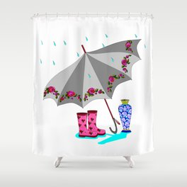 The Beauty of A Rainy Day Shower Curtain