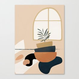 Plant in a Pot Canvas Print