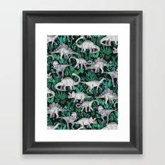 Dinosaur Jungle Framed Art Print