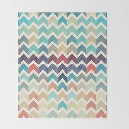 Watercolor Chevron Pattern Throw Blanket