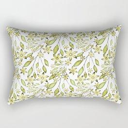 delicate floral pattern. Rectangular Pillow