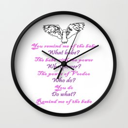 Labyrinth Remind Me of the Babe Wall Clock