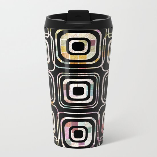 Colorful cube ring Metal Travel Mug
