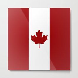 Canada: Canadian Flag (Red & White) Metal Print