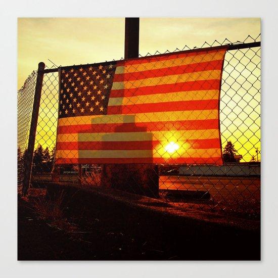 America's sunset Canvas Print