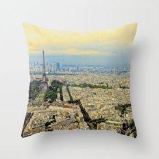 Above Paris Throw Pillow