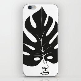 leaf - face iPhone Skin