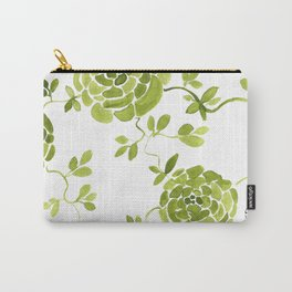 green zinnias by cocoblue Carry-All Pouch