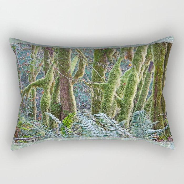 YOUNG RAINFOREST MAPLES Rectangular Pillow