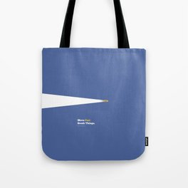 Lab No. 4 - Move fast break things Mark Zuckerberg Inspirational Quotes Poster Tote Bag