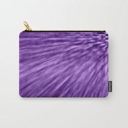 Grape Purple Pixel Wind Carry-All Pouch
