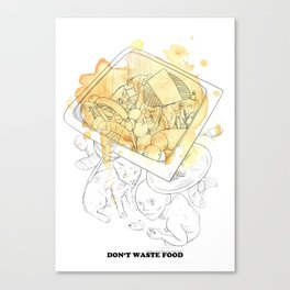 Don't waste food Canvas Print