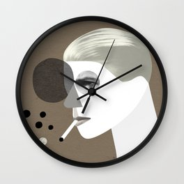 White duke (round version) Wall Clock