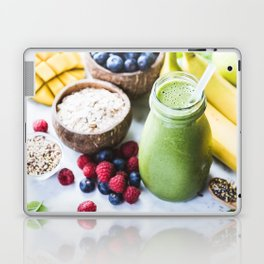 fresh smoothie with fruits, berries, oats and seed Laptop & iPad Skin