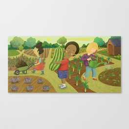 Down on the Allotment Canvas Print