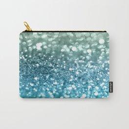 Seafoam Aqua Ocean MERMAID Girls Glitter #4 #shiny #decor #art #society6 Carry-All Pouch
