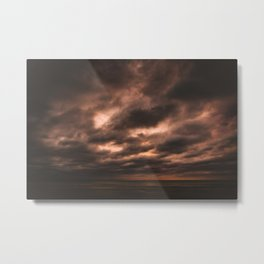 Nature photo - before the storm Metal Print