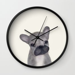 little french bulldog Wall Clock