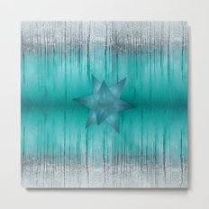 Crystal frozen star forest Metal Print