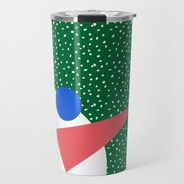 Memphis Christmas Snowman Travel Mug
