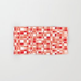 Mod Gingham - Red Hand & Bath Towel
