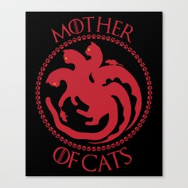 Mother of Cats For Cat Lovers Canvas Print
