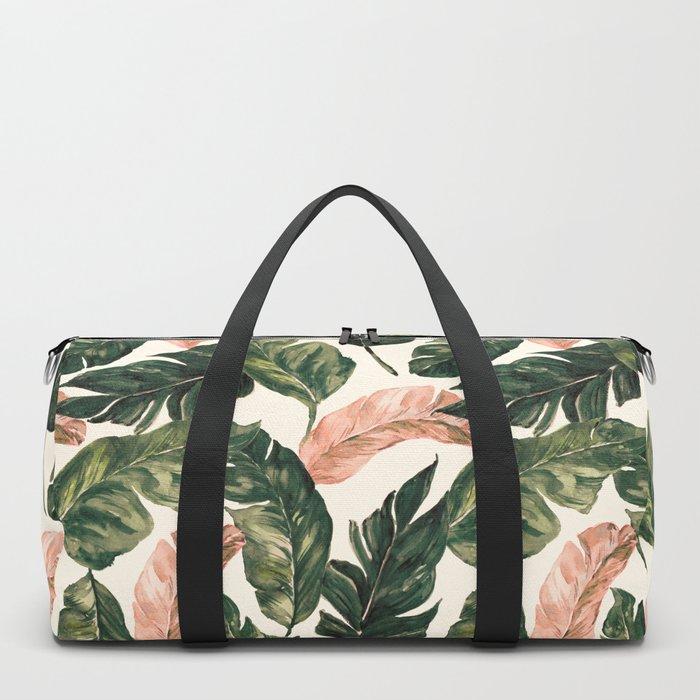 Leaf green and pink Duffle Bag